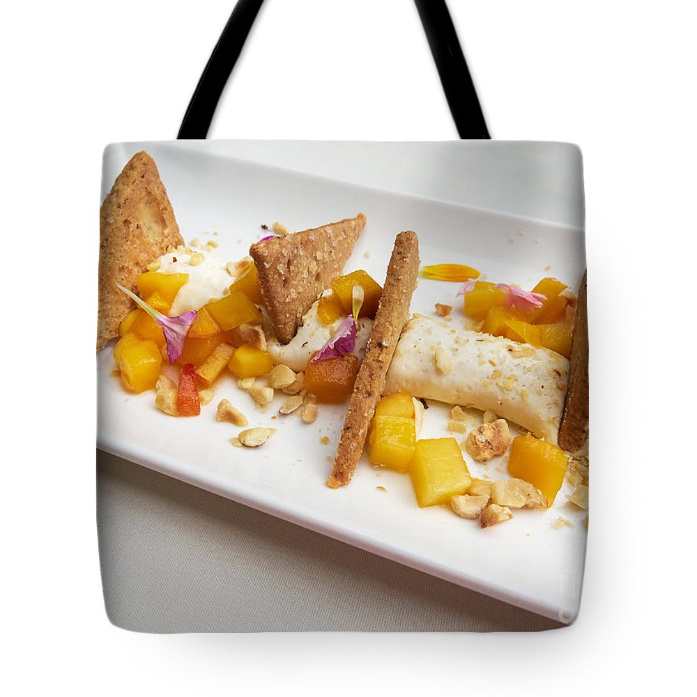 Cheesecake Tote Bag featuring the photograph Deconstructed Cheesecake by Louise Heusinkveld