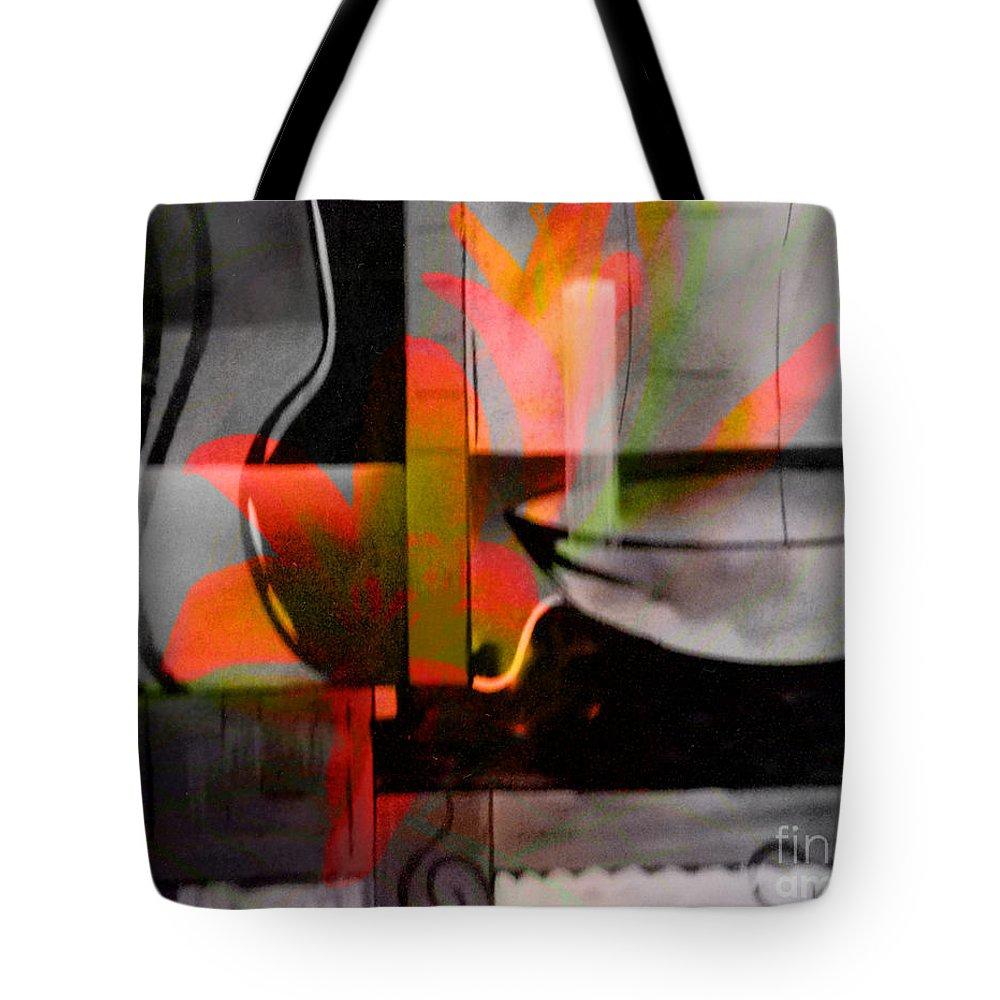 Digital Art Abstract Tote Bag featuring the digital art Decorative Design by Yael VanGruber