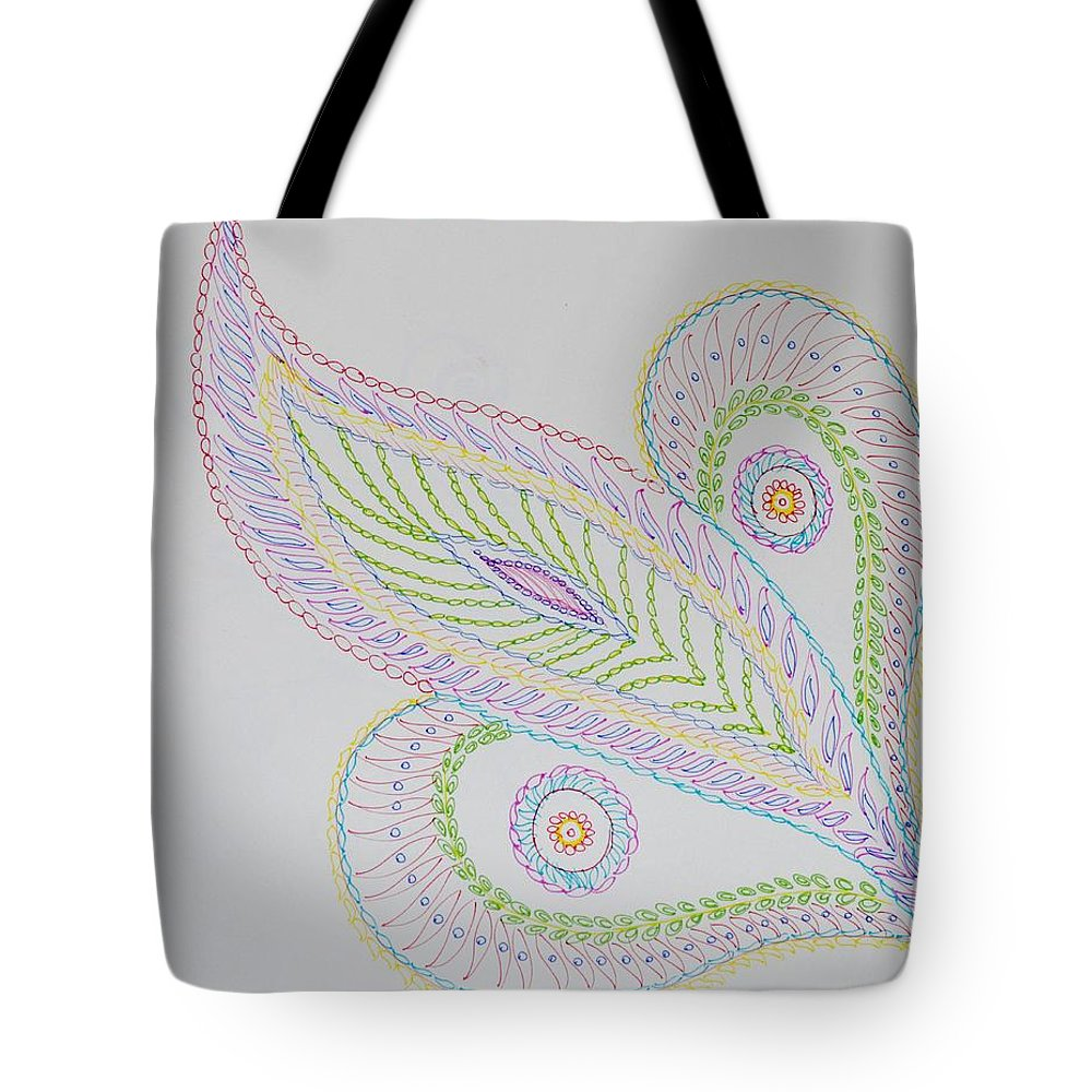 Decorative Leaf Tote Bag featuring the drawing Decorative Leaf by Sonali Gangane