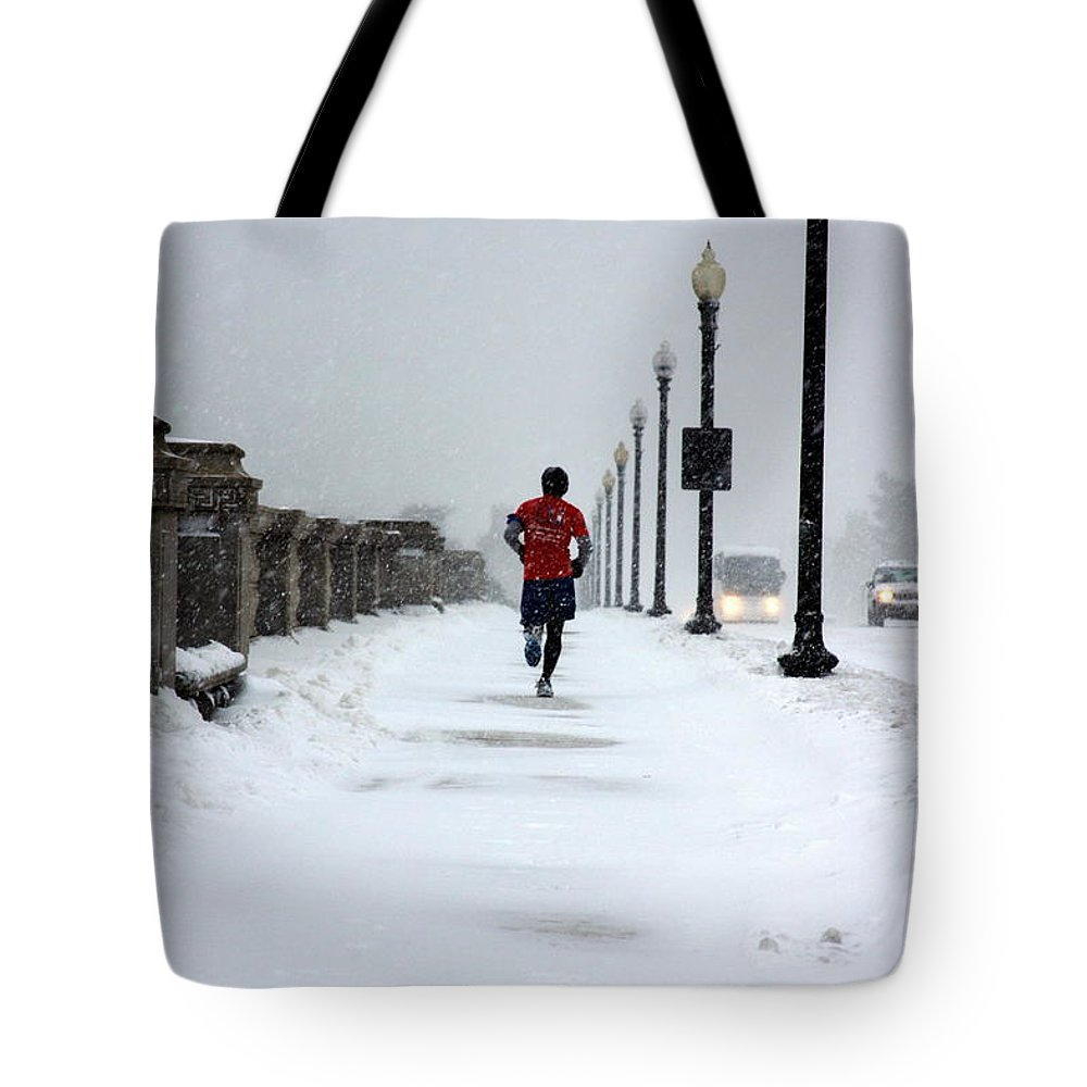 Running Tote Bag featuring the photograph Dedication by Andrew Romer