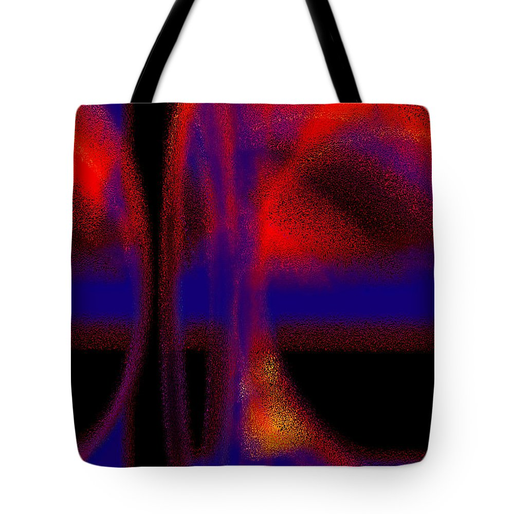 Abstract Tote Bag featuring the digital art Deep Blue by Tom Hubbard