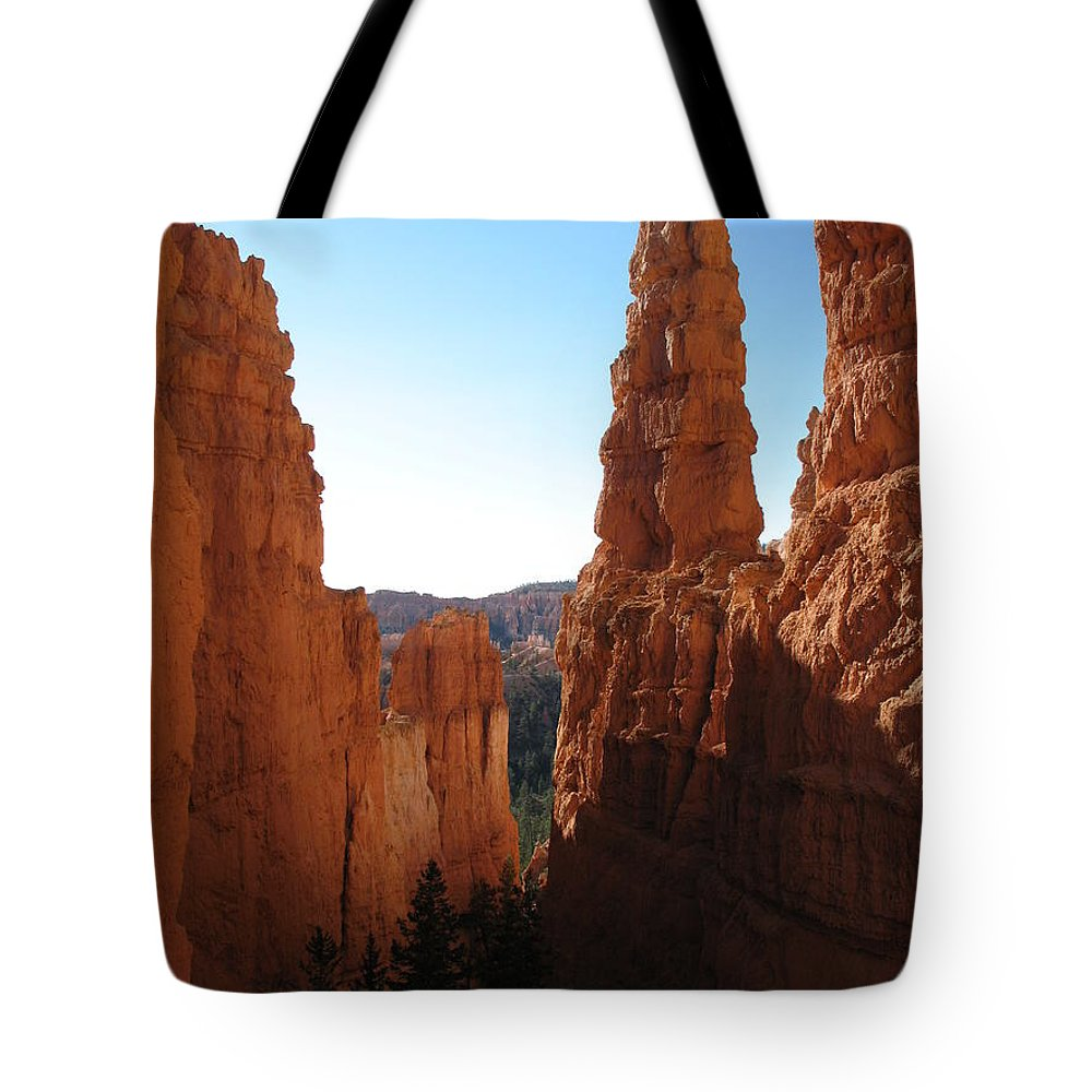 Canyon Tote Bag featuring the photograph Deep Down - Bryce Canyon by Christiane Schulze Art And Photography
