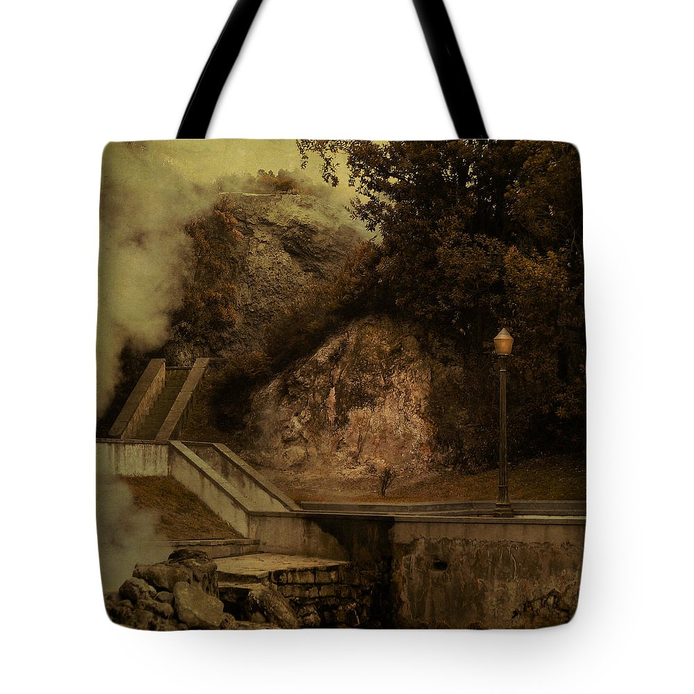 Smoke Tote Bag featuring the digital art Deep Down There's Fire by Eduardo Tavares