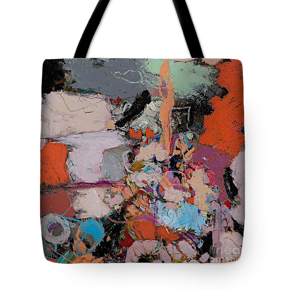 Landscape Tote Bag featuring the painting Deep Impulses by Allan P Friedlander