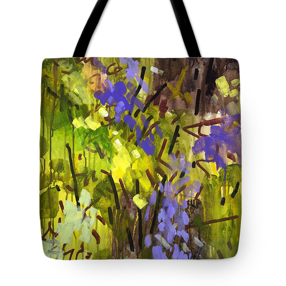 Abstract Tote Bag featuring the painting Deep In Summer by Douglas Simonson