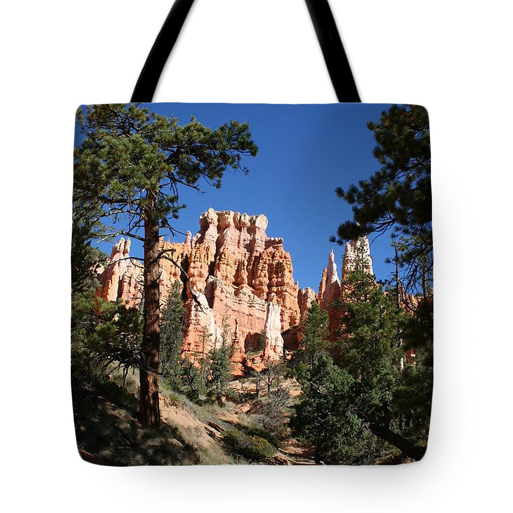 Canyon Tote Bag featuring the photograph Deep In The Bryce Canyon by Christiane Schulze Art And Photography