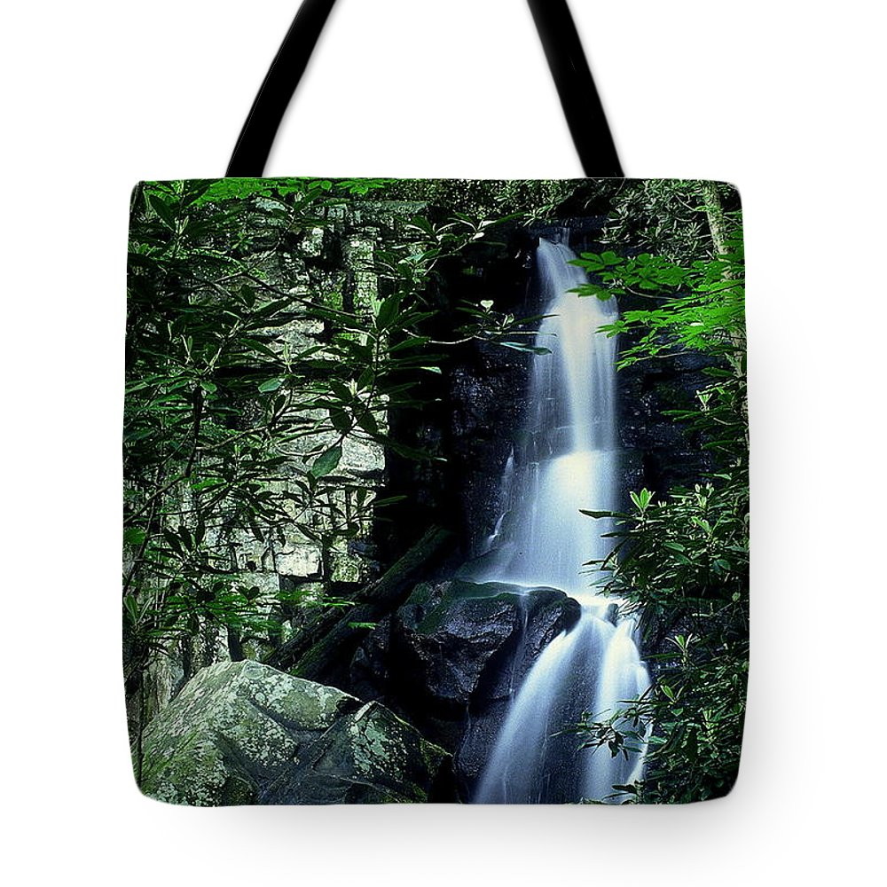 Fine Art Tote Bag featuring the photograph Deep In The Mountains by Rodney Lee Williams