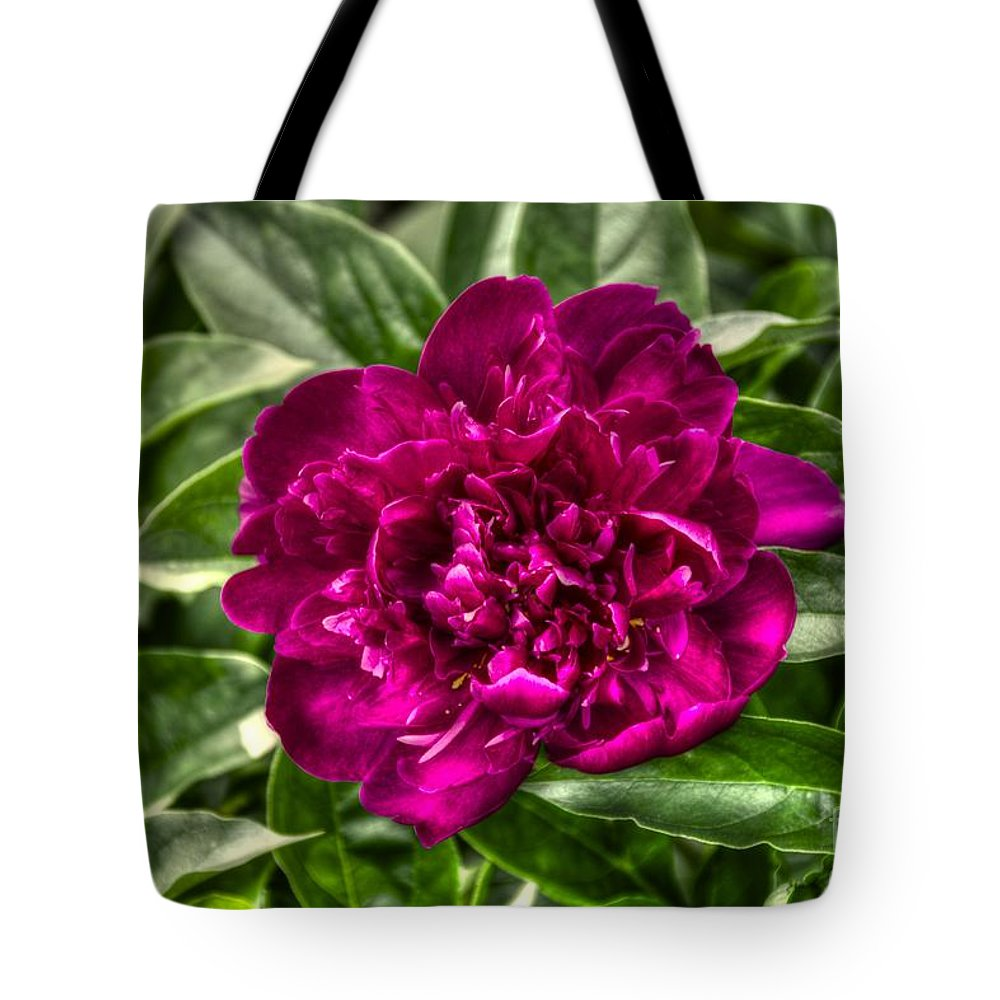 Flower Tote Bag featuring the photograph Deep Purple by M Dale