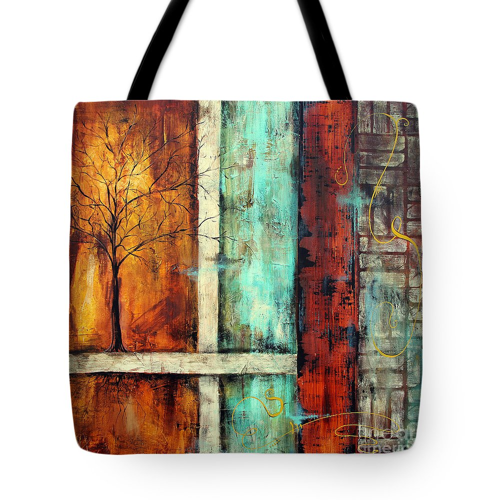 Painting Tote Bag featuring the painting Deep Roots-a by Jean Plout