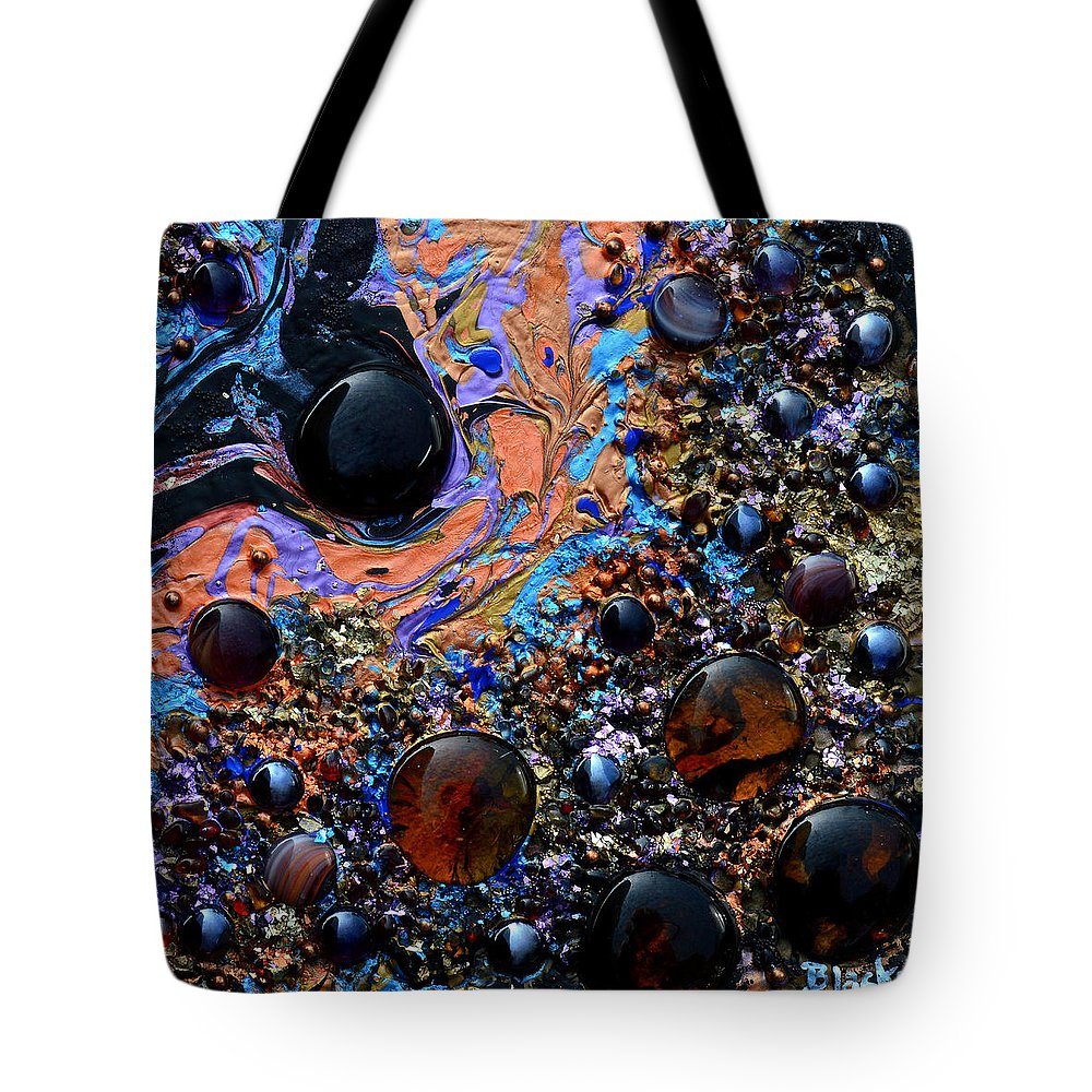 Modern Tote Bag featuring the painting Deep Space 5 by Donna Blackhall