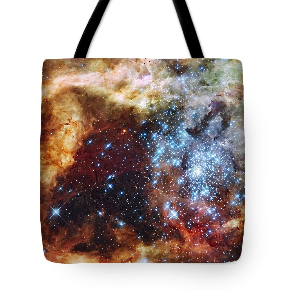 Nebula Tote Bag featuring the photograph Deep Space Fire And Ice by Jennifer Rondinelli Reilly - Fine Art Photography