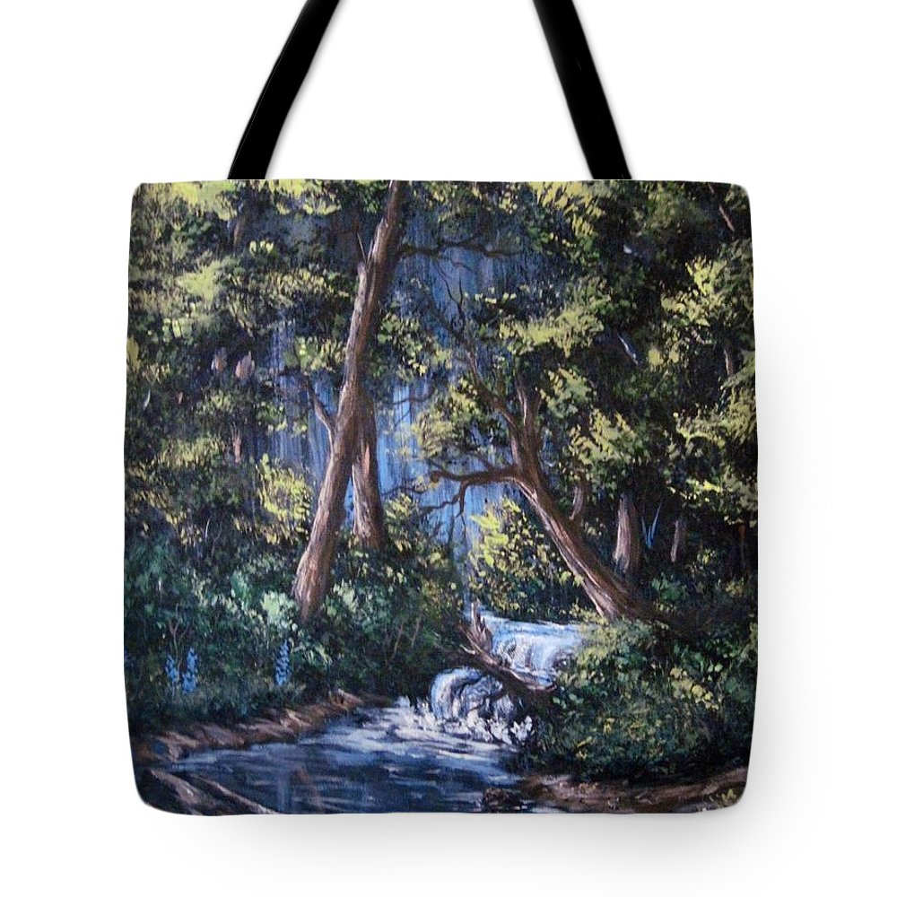 Forest Tote Bag featuring the painting Deep Woods by Megan Walsh