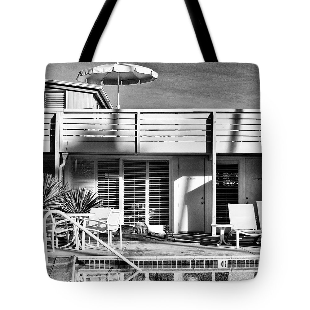 Pool Tote Bag featuring the photograph Del Marcos Palm Springs by William Dey
