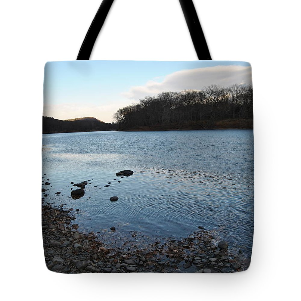 Delaware Water Gap Tote Bag featuring the photograph Delaware Water Gap by Christine Crowley