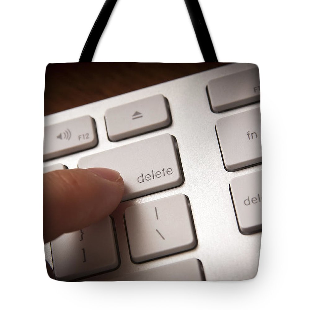 Background Tote Bag featuring the photograph Delete Key by Tim Hester