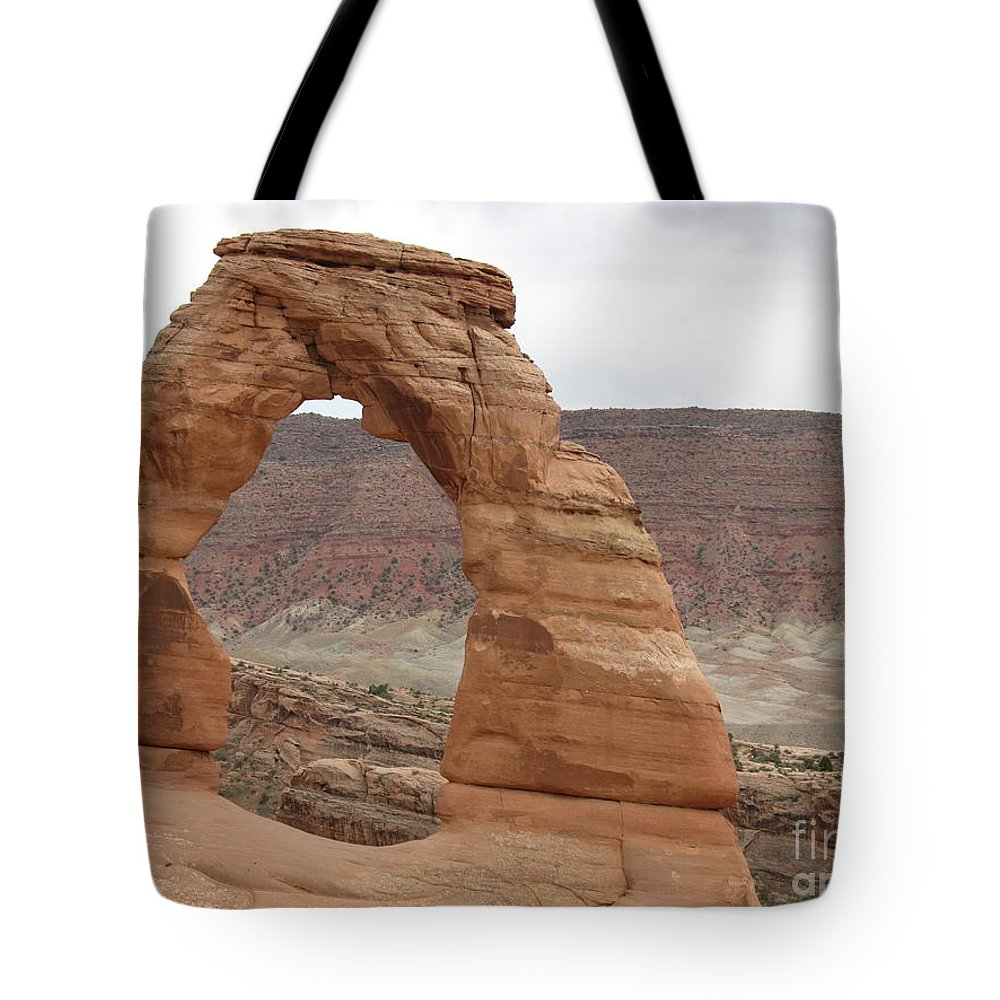 Arch Tote Bag featuring the photograph Delicate Arch Landscape by Christiane Schulze Art And Photography