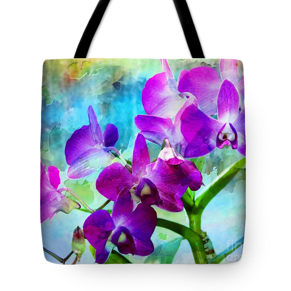 Orchid Tote Bag featuring the photograph Delicate Orchids by Kathleen Struckle