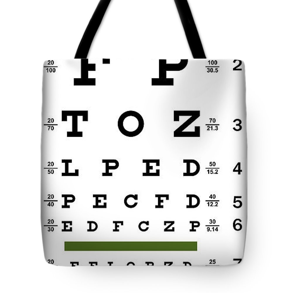 Deluxe Vision Test Chart Tote Bag For Sale By Daniel Hagerman