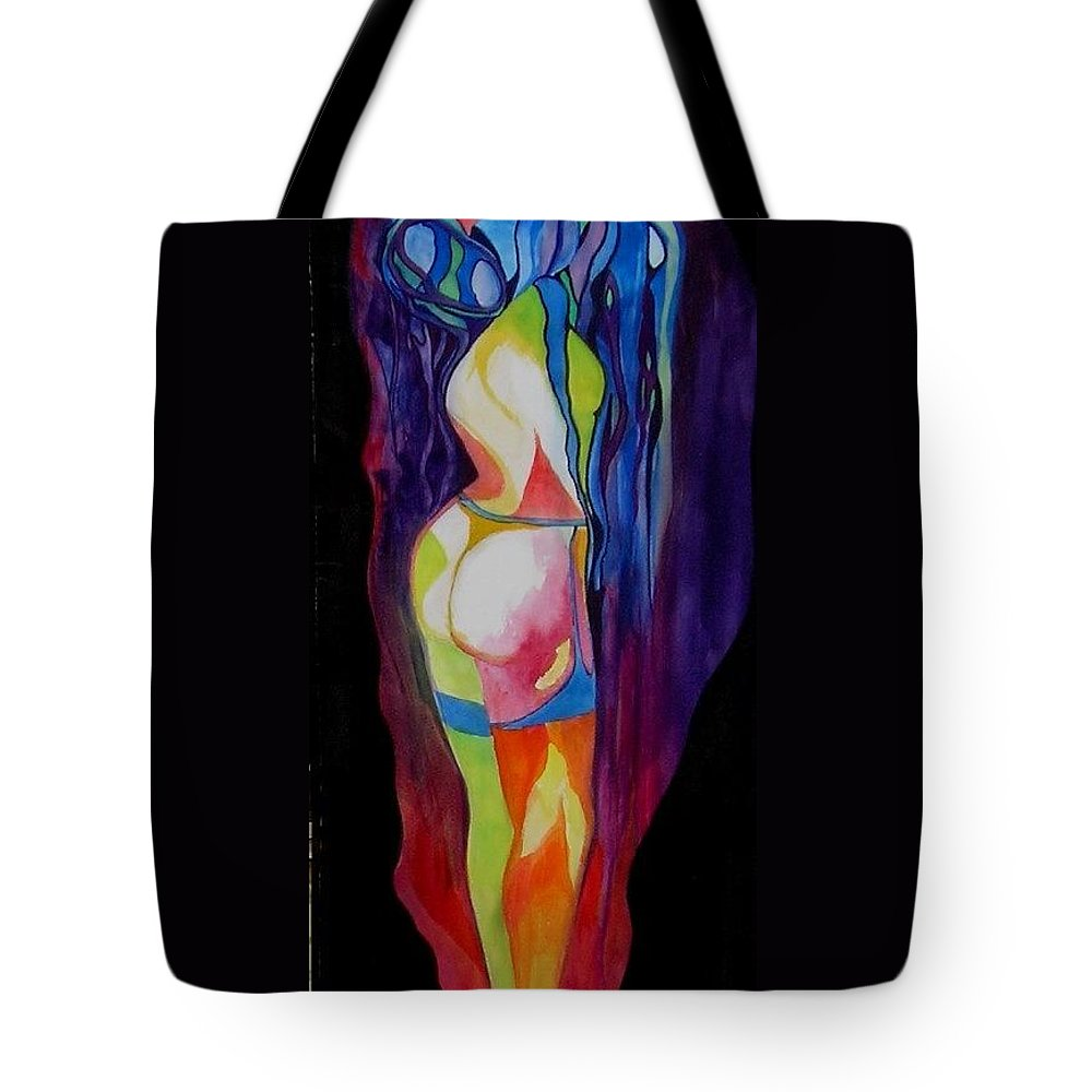 Denial Tote Bag featuring the painting Denial by Carolyn LeGrand