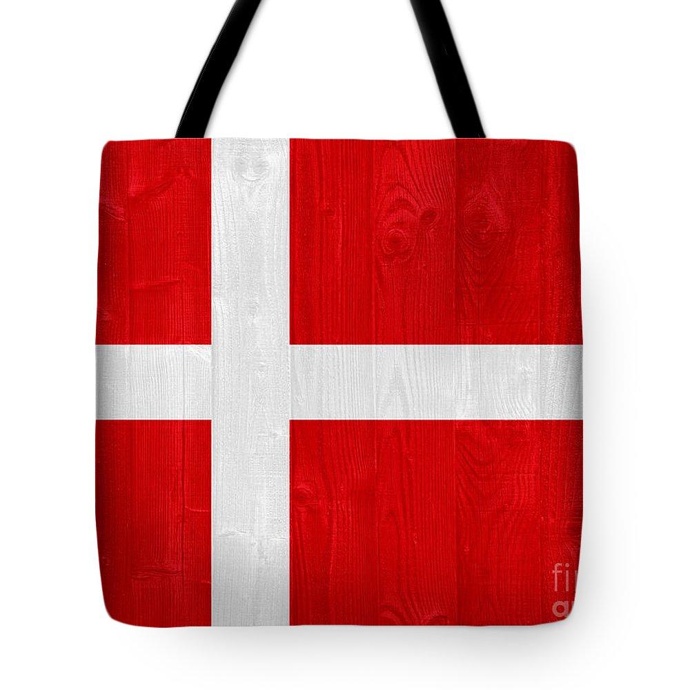 Denmark Tote Bag featuring the photograph Denmark Flag by Luis Alvarenga