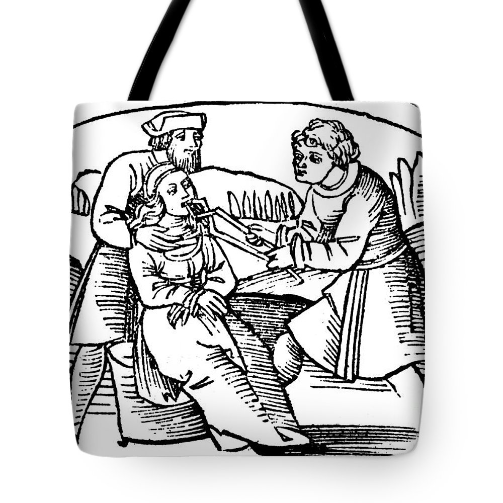 16th Century Tote Bag featuring the photograph Dentistry, 1542 by Granger