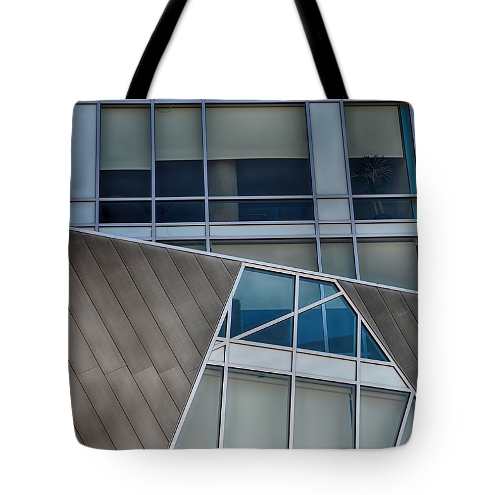 Downtown Tote Bag featuring the mixed media Denver Lines by Angelina Vick