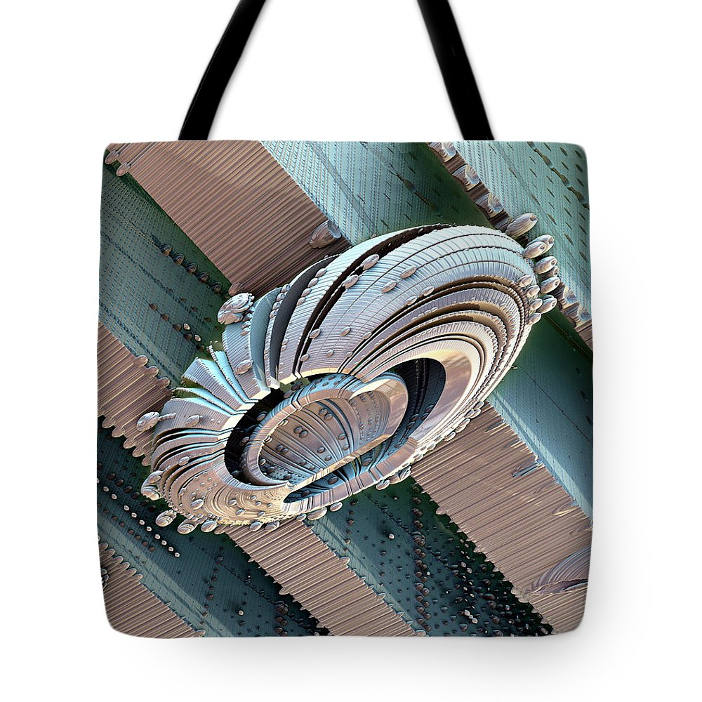 Fractal Tote Bag featuring the photograph Deploy by Kevin Trow