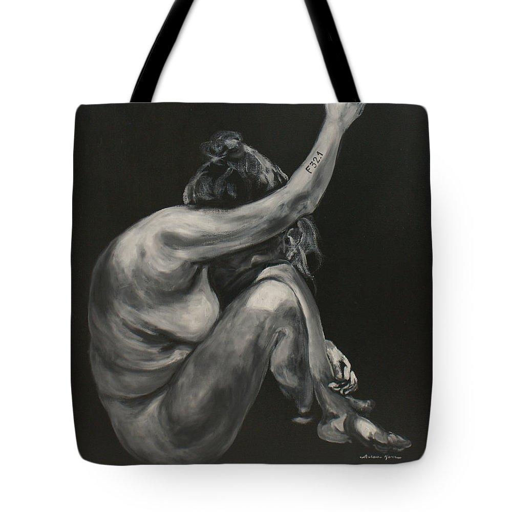 Depression Tote Bag featuring the painting Depression- Uruz by Luke Karcz