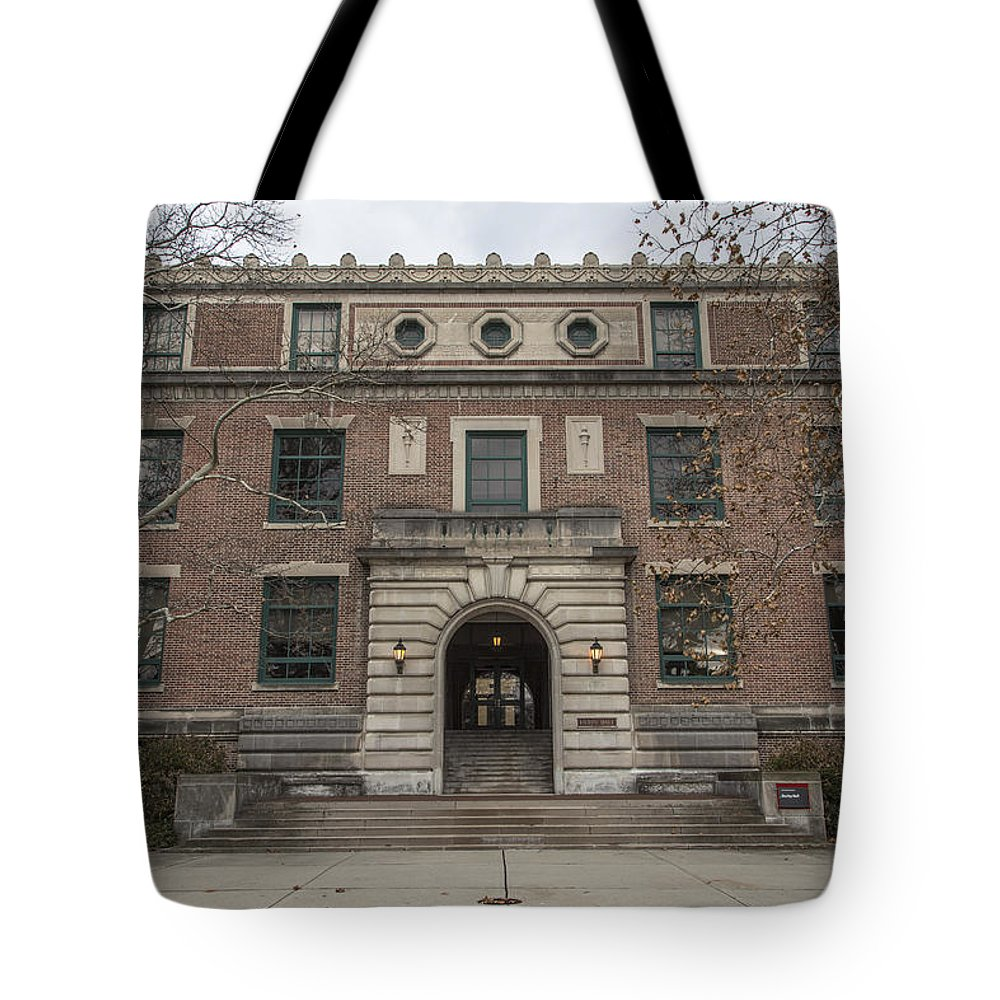 Ohio State University Tote Bag featuring the photograph Derby Hall Osu by John McGraw