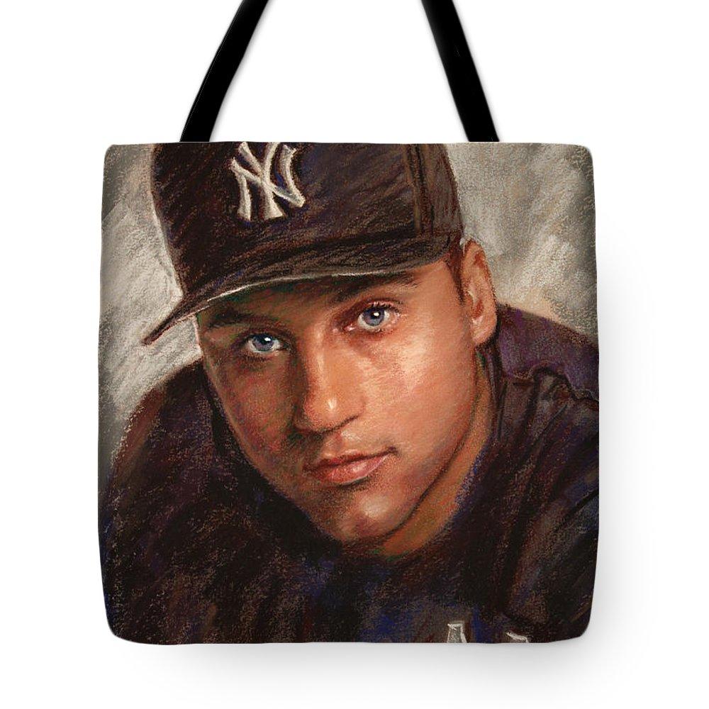 Derek Jeter Tote Bags