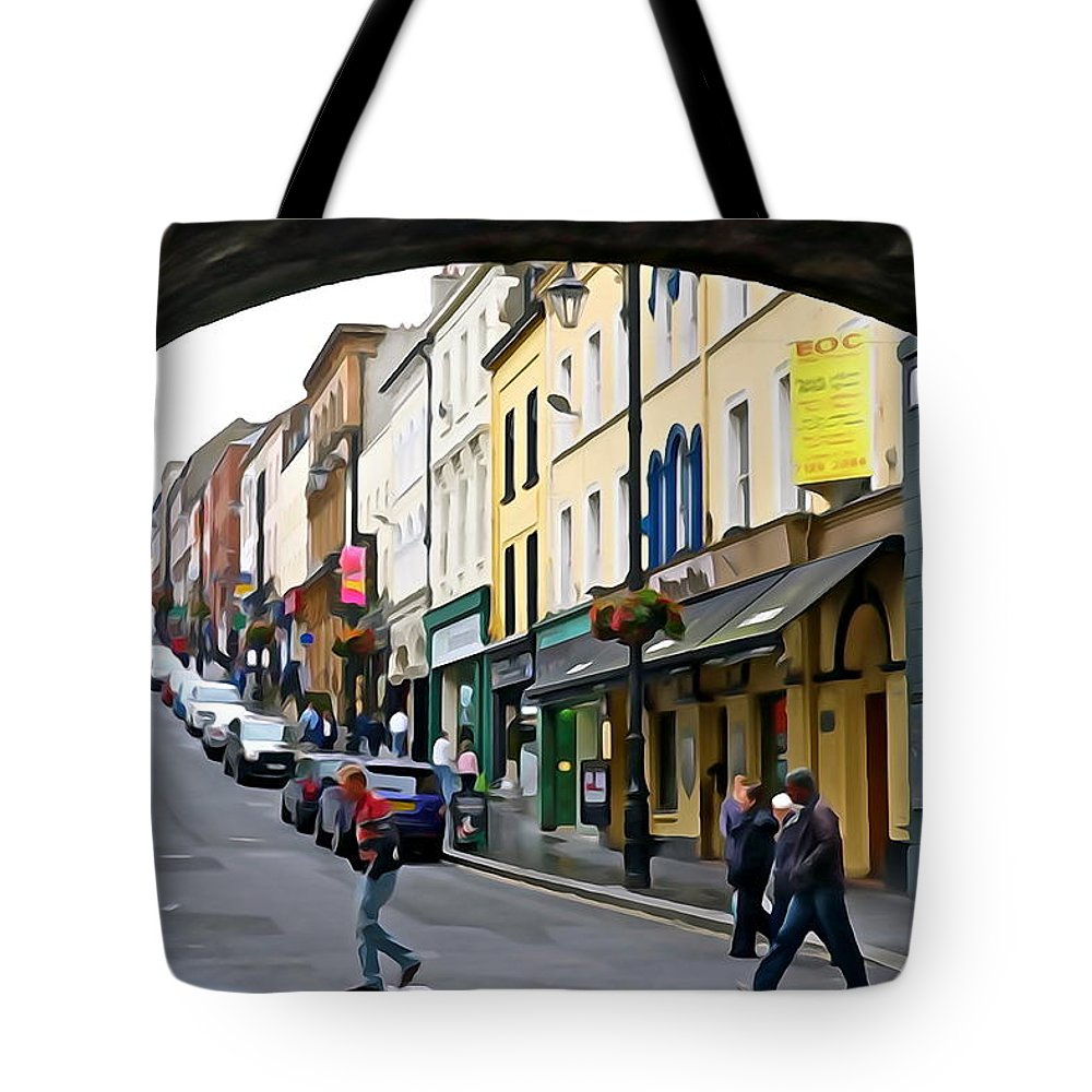 Derry Tote Bag featuring the photograph Derry Life - Irish Art By Charlie Brock by Charlie Brock