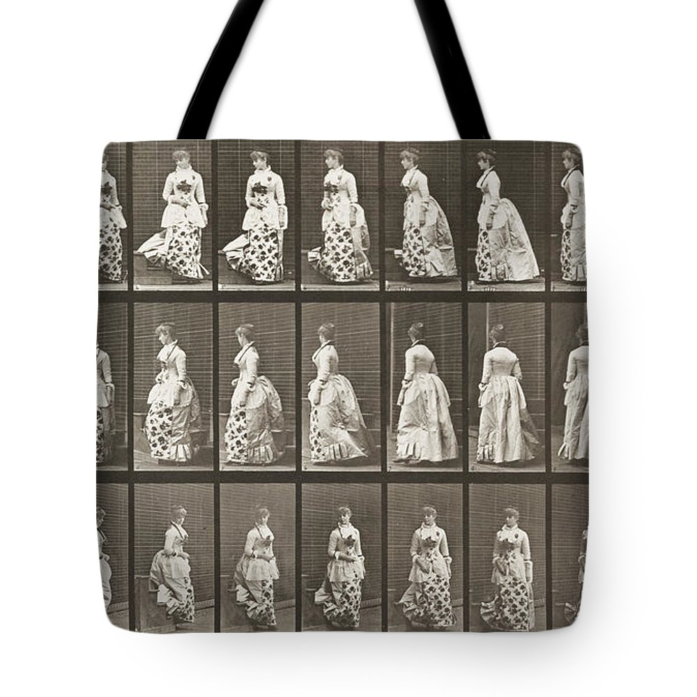 Edward James Tote Bag featuring the painting Descending Stairs And Turning by Celestial Images