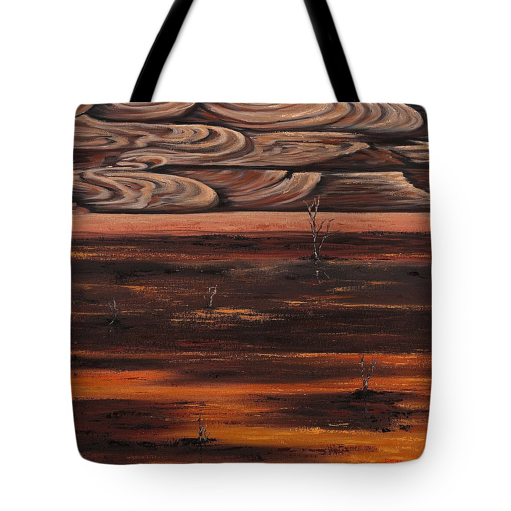 Abstract Tote Bag featuring the painting Desert Abstract by Darice Machel McGuire