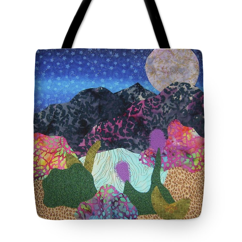 Abstract Art Quilt Tote Bag featuring the tapestry - textile Desert Dreaming by Ellen Levinson