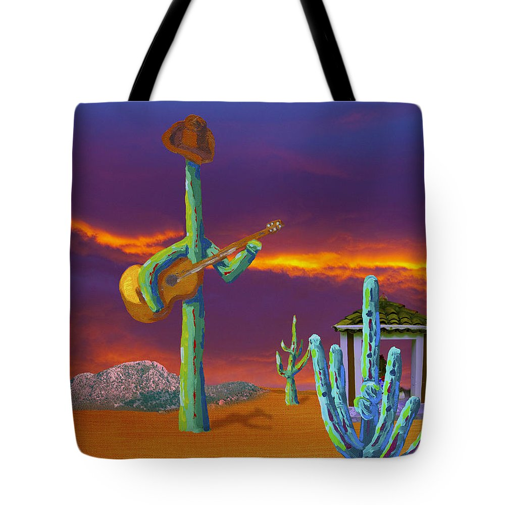Painting Tote Bag featuring the painting Desert Jam by Greg Wells