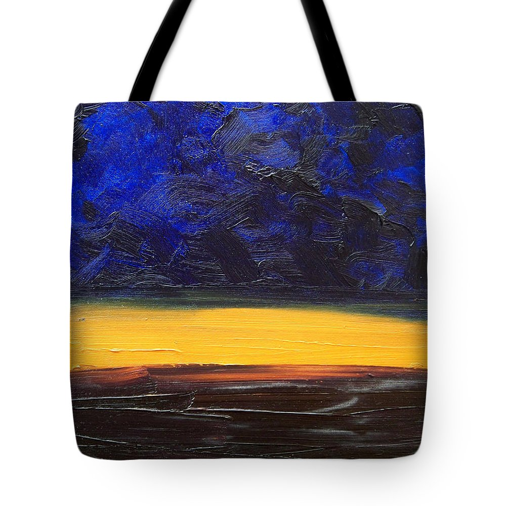 Landscape Tote Bag featuring the painting Desert Plains by Sergey Bezhinets