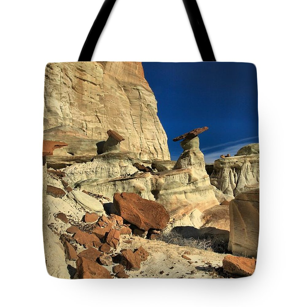 Wahweap Hoodoos Tote Bag featuring the photograph Desert Towers by Adam Jewell