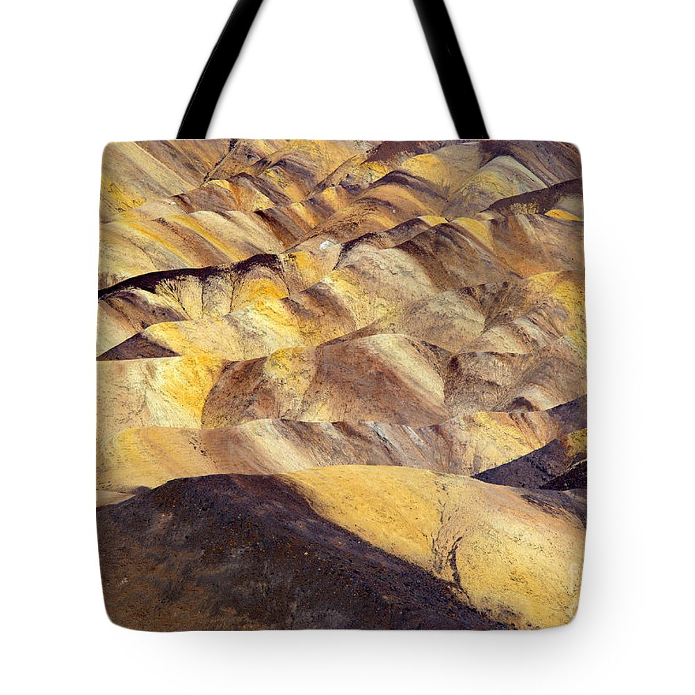 Zabriskie Point Tote Bag featuring the photograph Desert Undulations by Mike Dawson