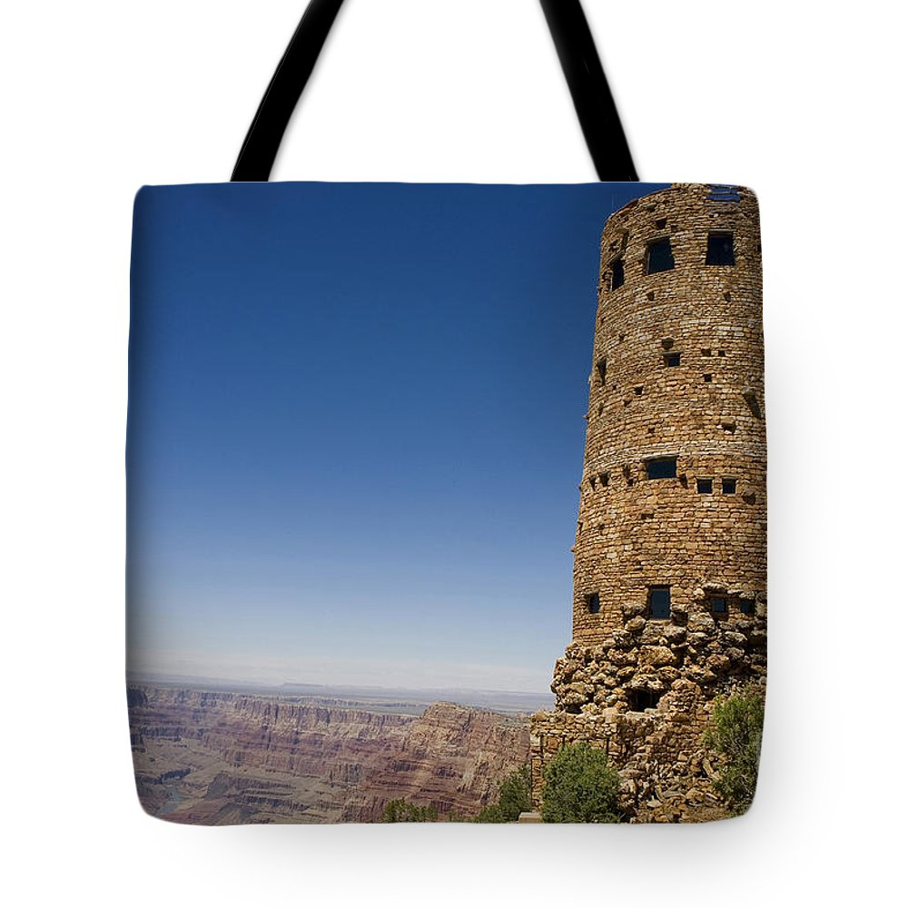 Desert View Watchtower Tote Bag featuring the photograph Desert Watchview Tower Grand Canyon by Jason O Watson