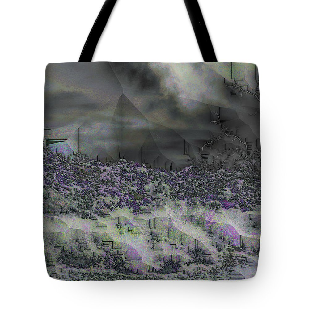 Abstract Tote Bag featuring the digital art Desert Winds by Jack Bowman