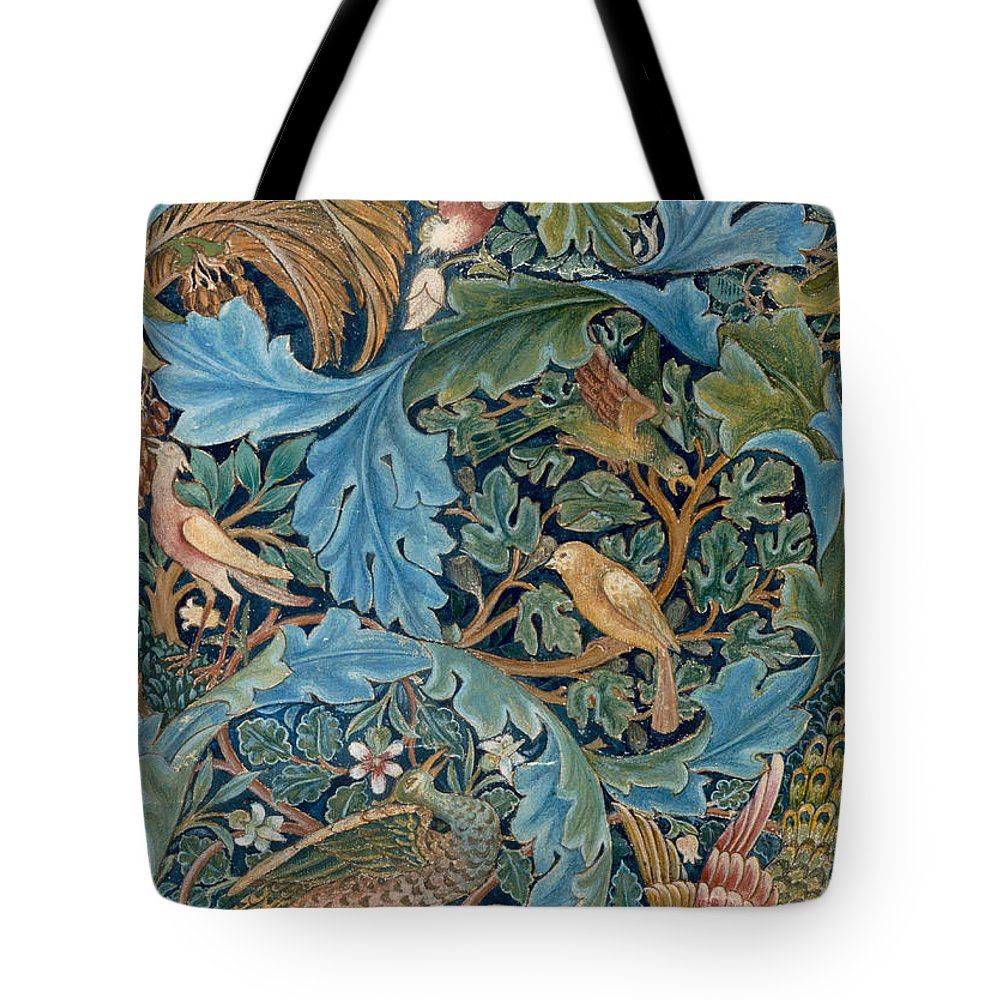 William Morris Tote Bag featuring the painting Design For Tapestry by William Morris