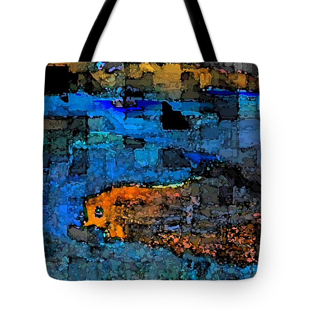 Abstract Tote Bag featuring the digital art Desperation by Jack Bowman