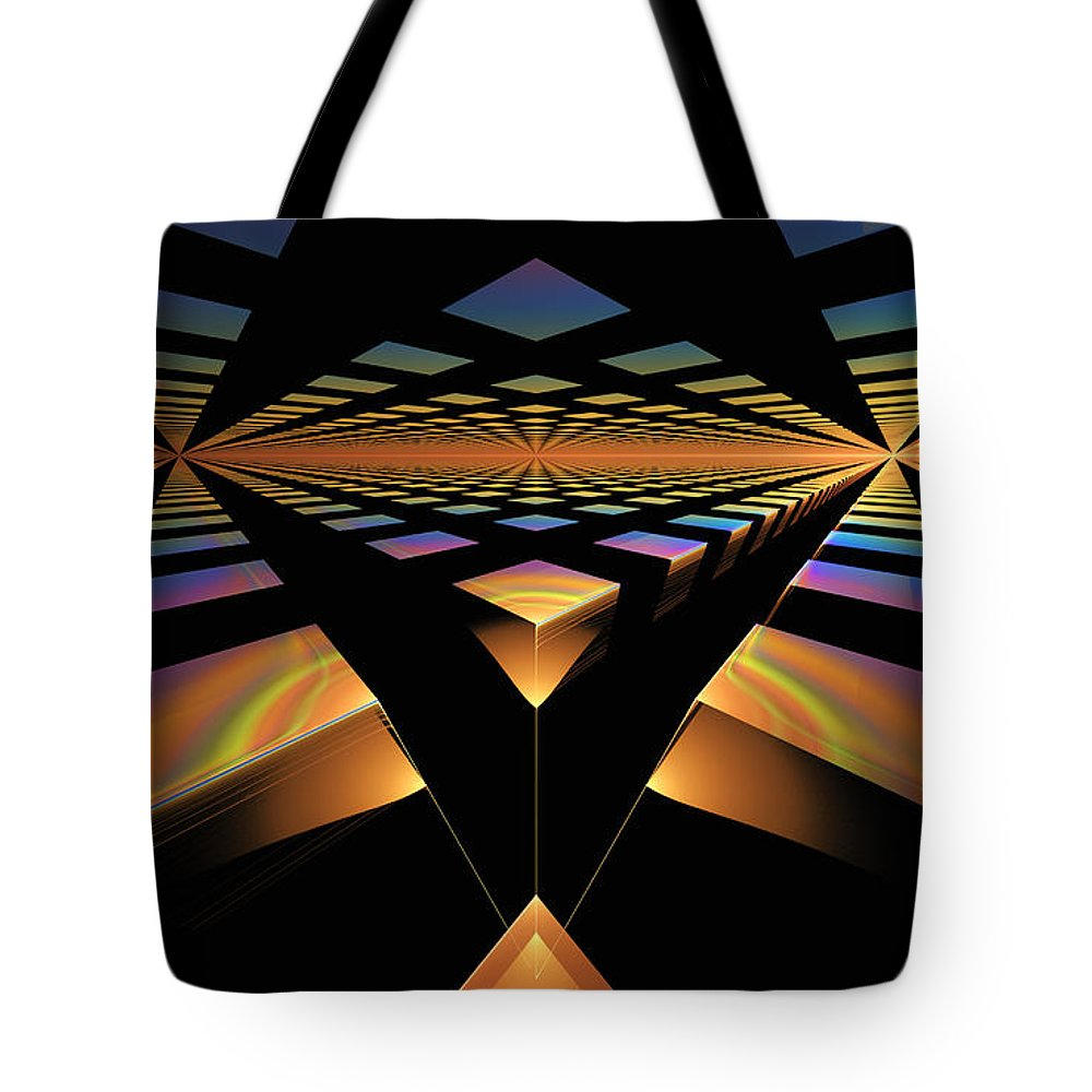 Digital Tote Bag featuring the digital art Destination Paths by GJ Blackman