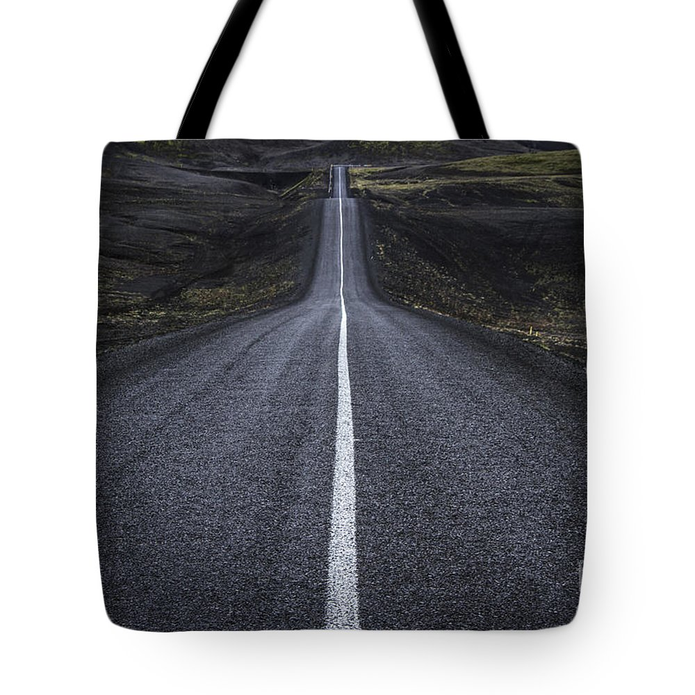 Landmannalaugar Tote Bag featuring the photograph Destination Unknown by Evelina Kremsdorf