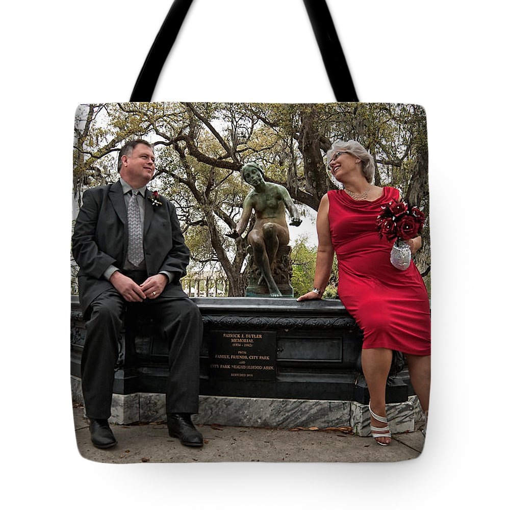Destination Wedding Tote Bag featuring the photograph Destination Wedding-m And D by Kathleen K Parker