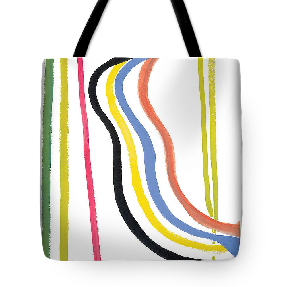 Abstract Tote Bag featuring the painting Destiny by Bjorn Sjogren