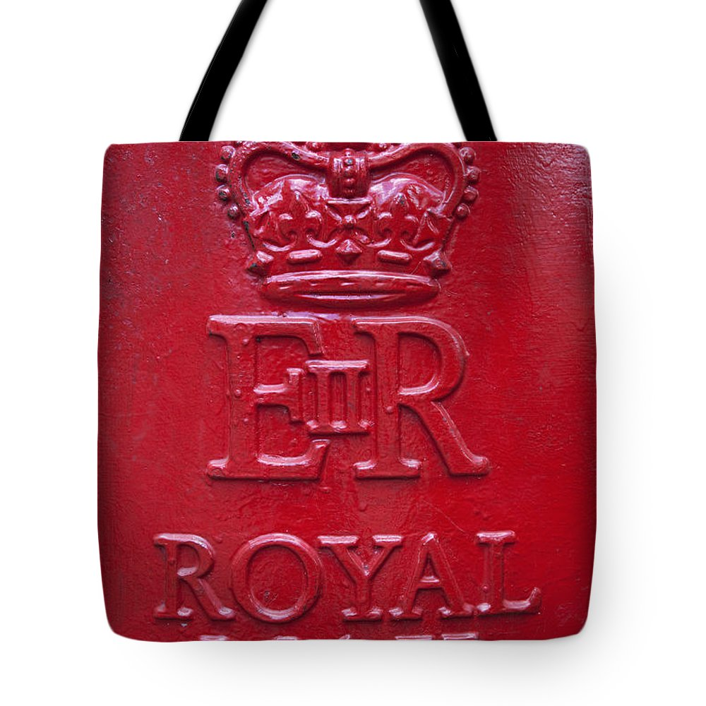 Europe Tote Bag featuring the photograph Detail Of Old Royak Mail Post Box by Mark Thomas