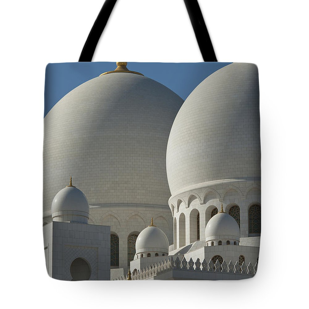 Photography Tote Bag featuring the photograph Detail Of The Domed Roof Of The Sheikh by Ian Cumming