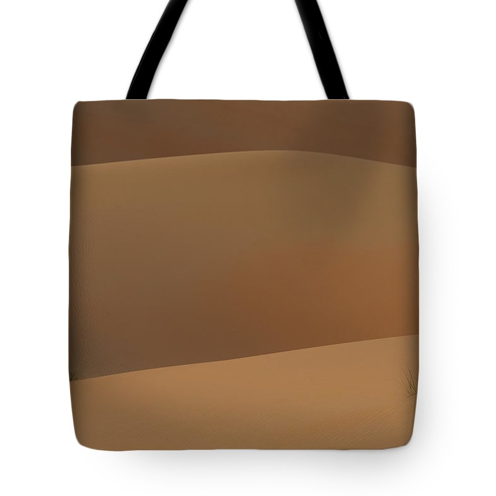 Photography Tote Bag featuring the photograph Detail Of Tufts Of Grass In Sand Dunes by Ian Cumming