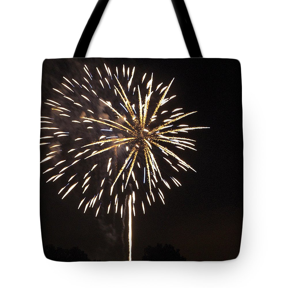 Cities Tote Bag featuring the photograph Detroit Area Fireworks -4 by Paul Cannon